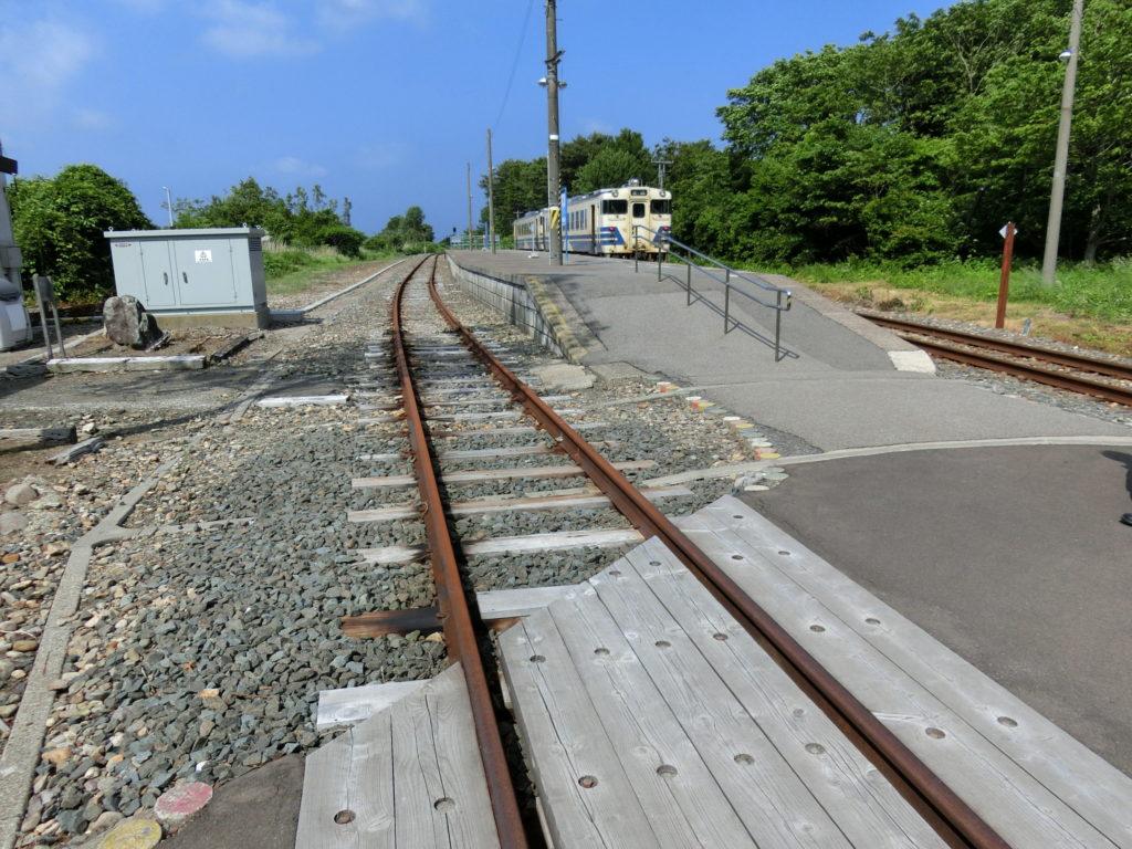 津軽線・三厩駅の使用停止中の線路