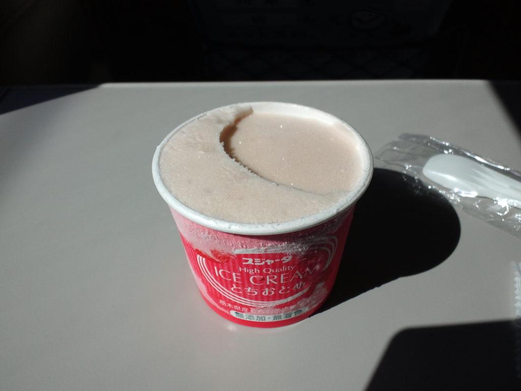 とちおとめいちごアイスクリーム