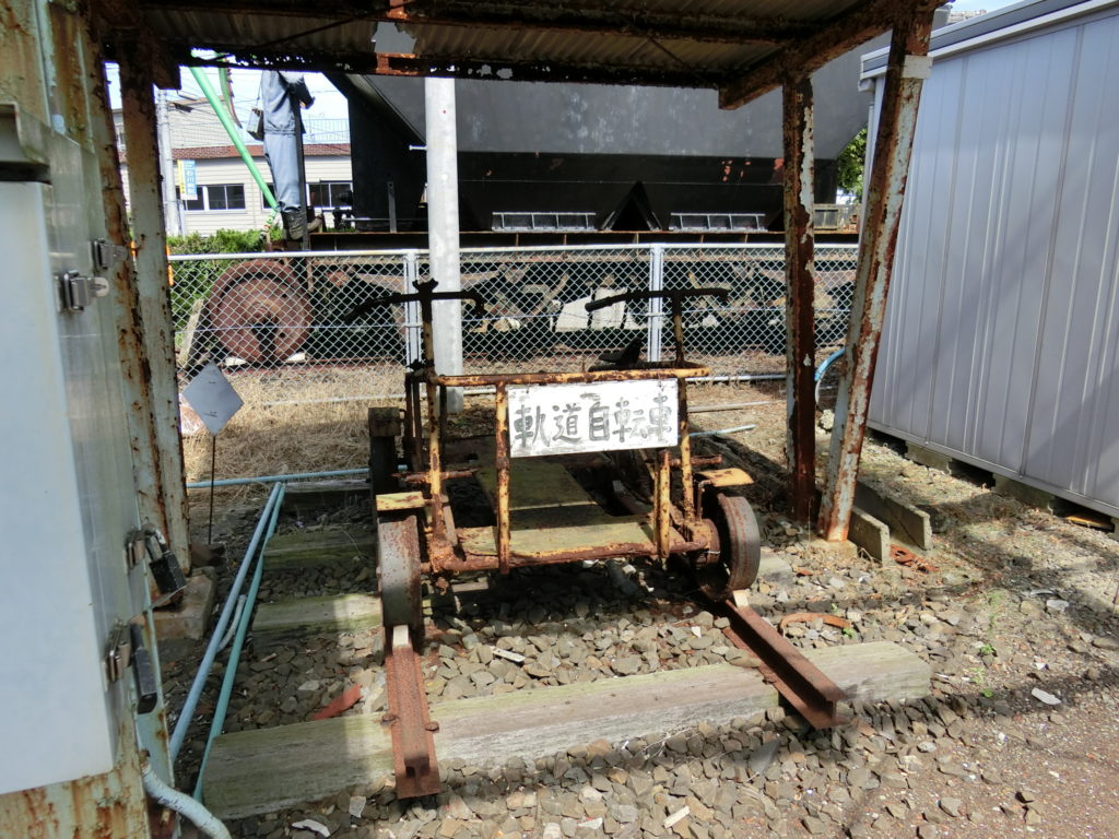 日本最西端の駅 たびら平戸口駅 軌道自転車展示