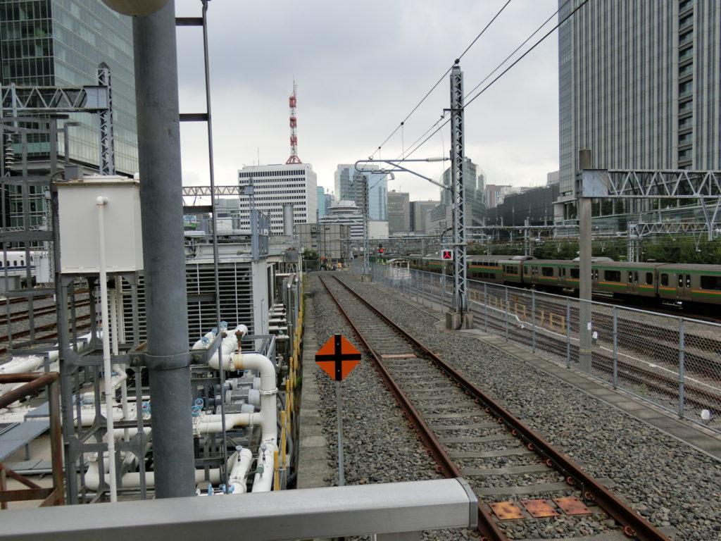 東京駅20番線の終端