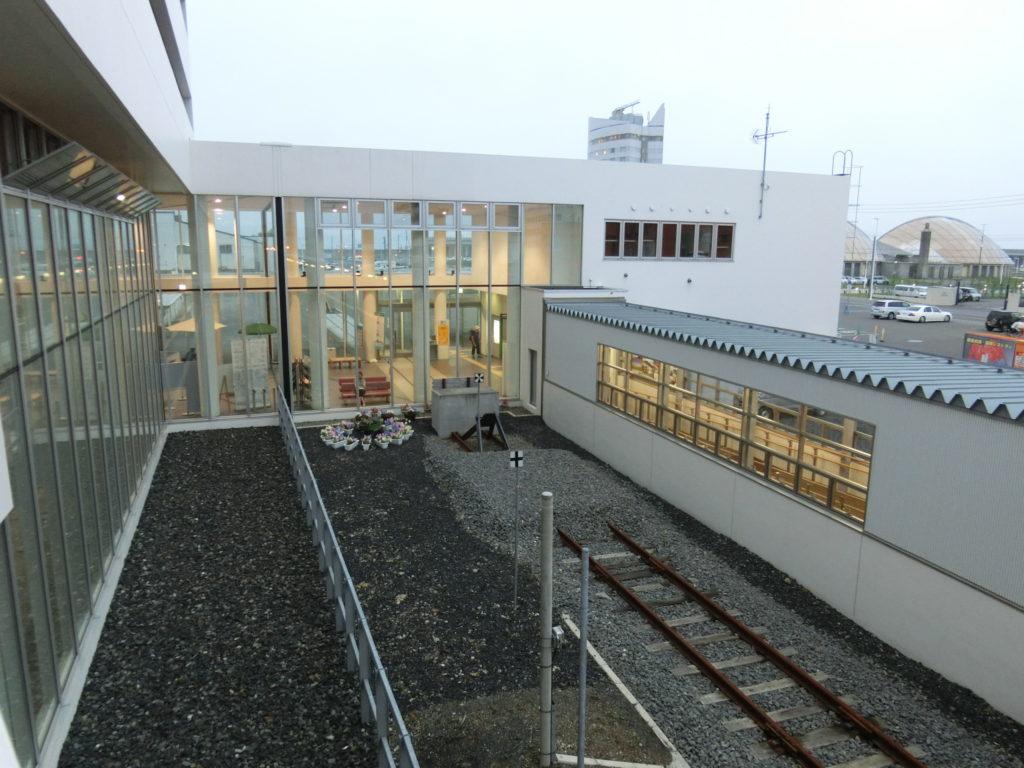 キタカラからの眺め 稚内駅