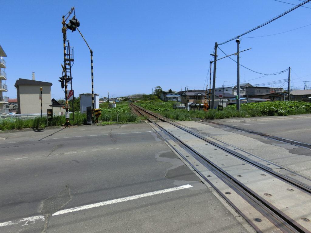 根室本線 踏切 東根室駅方面