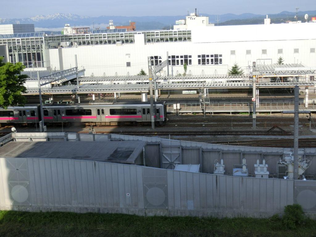 ホテルルートイン新庄駅前からの眺め