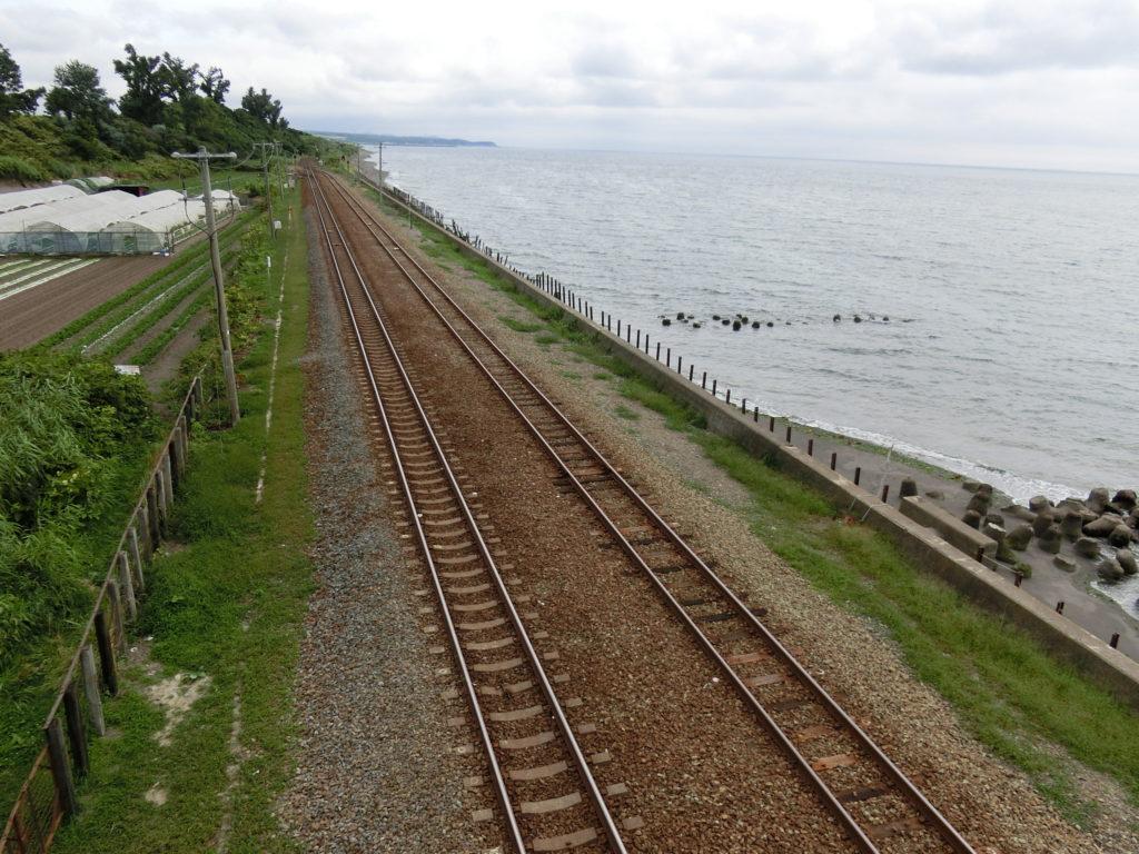 北舟岡駅 跨線橋からの眺め