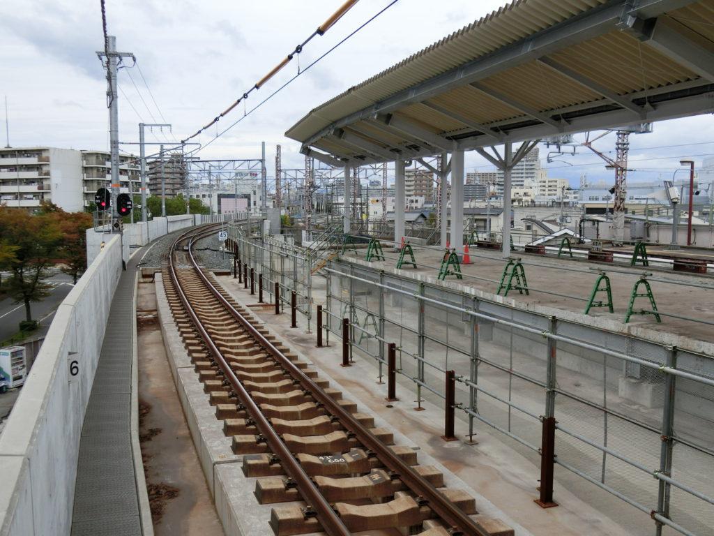 鴫野駅 工事状況