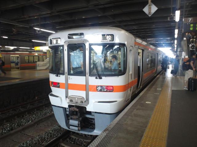 豊橋駅から普通列車に乗車