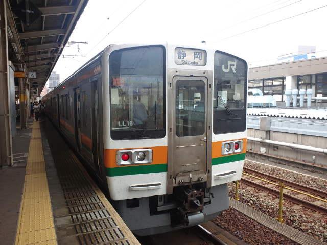 浜松駅から普通列車に乗車
