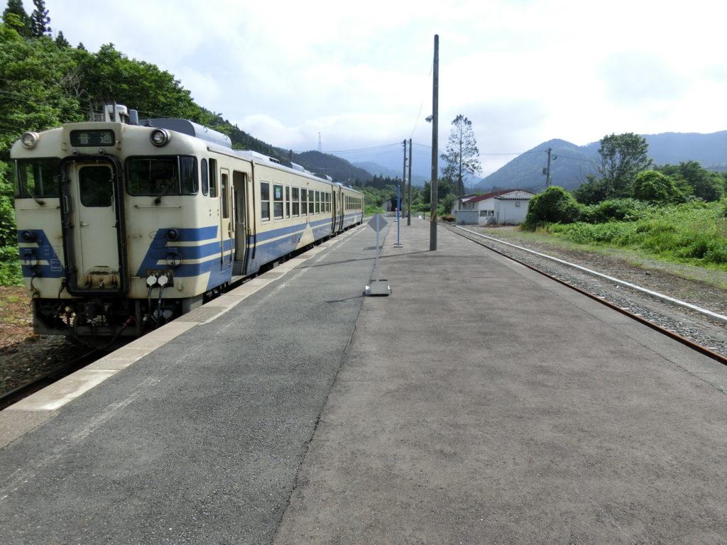 津軽線・三厩駅ホーム