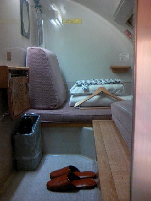 寝台特急あけぼの 個室B寝台ソロ2階 部屋の内部