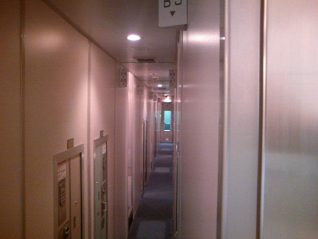 寝台特急あけぼの 個室B寝台ソロ車内