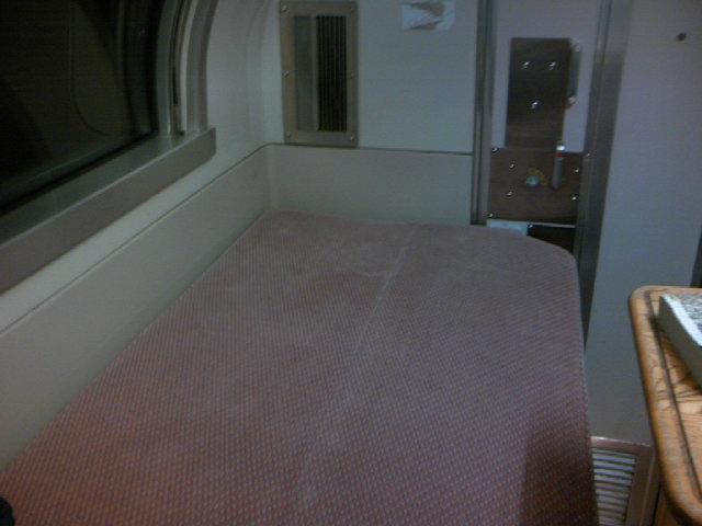 寝台特急あけぼの 個室B寝台ソロ2階 寝台セット後