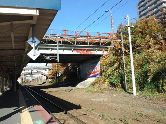 南小樽駅ホーム
