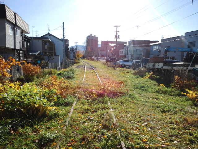 旧手宮線跡遊歩道(未整備区間)