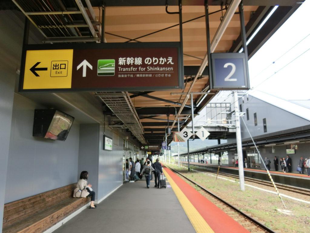新函館北斗駅ホーム(函館本線)